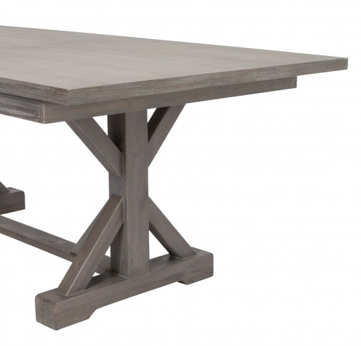 Bruna Gray Wood Extendable Dining Table by Best Quality Furniture