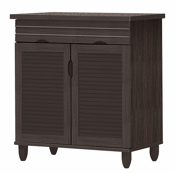 Raven Espresso Wood Shoe Cabinet w/Drawer by Asia Direct