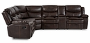 Bastrop 3-Pc Brown Manual Recliner Sectional Sofa by Homelegance