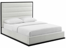 Ashland White Upholstered Faux Leather Queen Platform Bed by Modway
