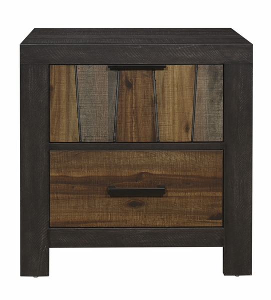 Cooper Multi-Tone Wire Brushed Finishes Wood Nightstand by Homelegance
