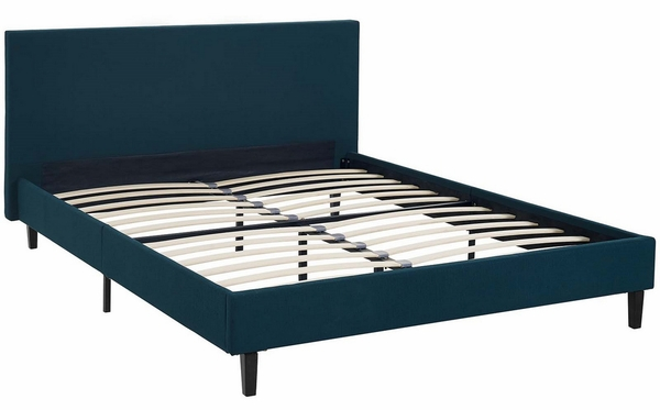 Anya Azure Upholstered Vinyl Full Fabric Bed by Modway