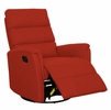 Tyler Orange Fabric Manual Recliner by AC Pacific