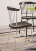 Orien 2 Brown Oak/White Wood/Metal Side Chairs by Acme