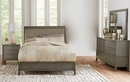 Cotterill 4-Pc Gray Wood/Faux Leather Queen Bedroom Set by Homelegance
