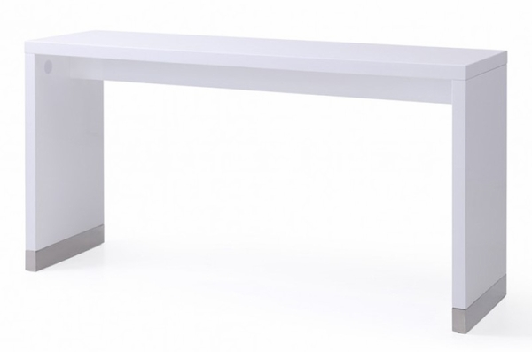 Modrest Silas White Wood Rectangular Bar Table by VIG Furniture