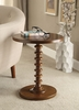 Acton Walnut Wood Round Side Table by Acme