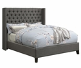 Bancroft Grey Woven Fabric Upholstered King Bed by Coaster
