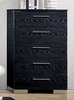 Christie Black Wood Chest with 5 Drawers by Furniture of America