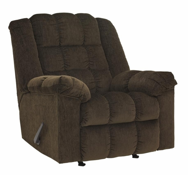 Signature Design Ludden Cocoa Fabric Manual Rocker Recliner by Ashley