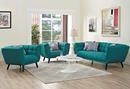 Bestow 3-Pc Teal Fabric Sofa Set by Modway