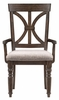 Cardano 2 Driftwood Charcoal Fabric/Wood Arm Chairs by Homelegance