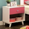 Alivia White/Pink Wood Nightstand by Furniture of America
