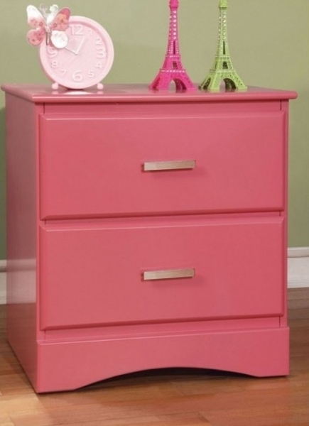 Prismo Pink Nightstand by Furniture of America