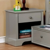 Diane Gray Solid Wood Nightstand by Furniture of America