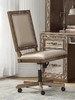Orianne Antique Gold PU Leather Office Chair by Acme
