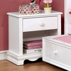 Dani White Solid Wood Nightstand by Furniture of America