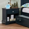 Diane Blue Solid Wood Nightstand by Furniture of America