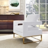 Avery White Vegan Leather Accent Chair by TOV Furniture