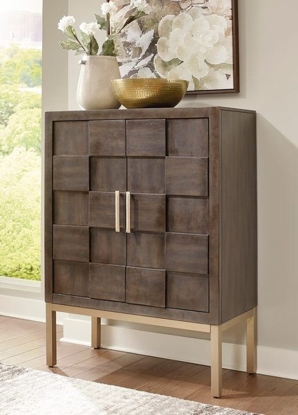 Signature Design Grantleigh Brown Wood Bar Cabinet by Ashley