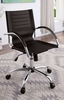 Canico Black Leatherette/Chrome Office Chair by Furniture of America