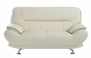 Arcadia Ivory Genuine Leather Loveseat by American Eagle Furniture