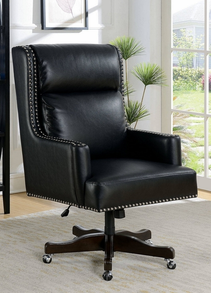Bonner Black Leatherette/Metal Office Chair by Furniture of America