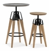 Modrest Yates Dark Grey Concrete/Oak Wood Bar Table by VIG Furniture