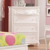 Caroline White Wood Chest with 4 Drawers by Coaster