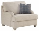 Benchcraft Traemore Linen Fabric Chair and a Half by Ashley