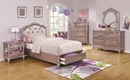 Caroline Metallic Lilac Wood Chest with 4 Drawers by Coaster
