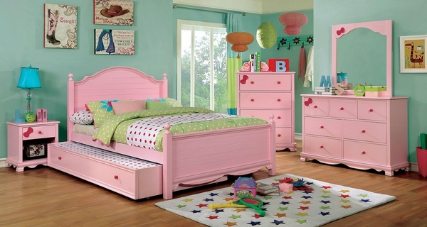 Dani Pink Solid Wood Chest by Furniture of America
