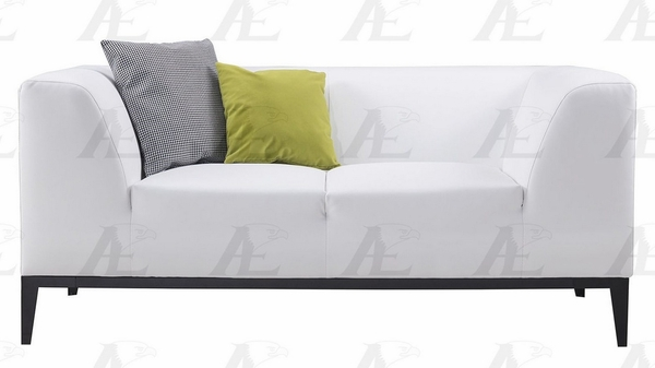 Alba White Bonded Leather Loveseat by American Eagle Furniture