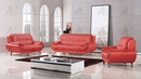 Caryl Red Bonded Leather Loveseat by American Eagle Furniture