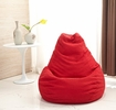 Norma Red Corduroy Adult Chair Bean Bag by Milton Greens Stars