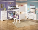 Signature Design Lulu 5-Pc White Wood Twin/Twin Bunk Bed Set by Ashley