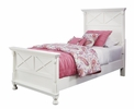 Signature Design Kaslyn 5-Pc White Wood Twin Panel Bed Set by Ashley