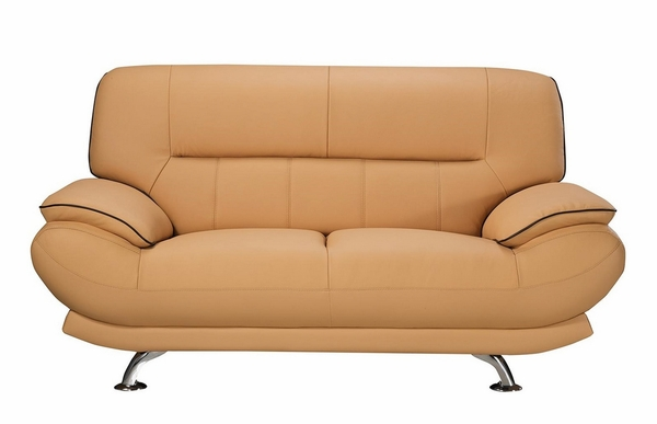 Arcadia Yellow Genuine Leather Loveseat by American Eagle Furniture