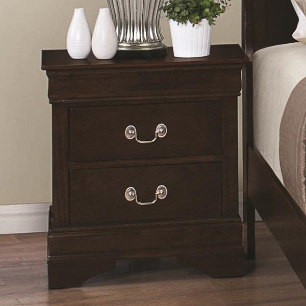 Louis Philippe 5-Pc Cappuccino Twin Sleigh Bedroom Set by Coaster