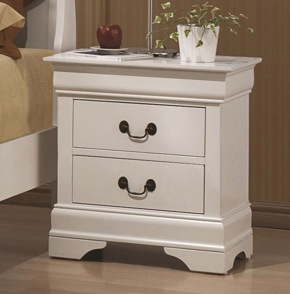 Louis Philippe 5-Pc White Wood Twin Bedroom Set by Coaster