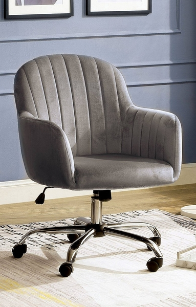 Valery Gray Fabric/Metal Office Chair by Furniture of America