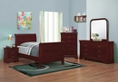 Louis Philippe 6-Pc Red Brown Wood Twin Bedroom Set by Coaster