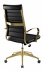 Jive Black Faux Leather/Gold Metal Highback Office Chair by Modway