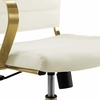 Jive White Faux Leather/Gold Metal Highback Office Chair by Modway