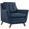 Beguile 3-Piece Azure Fabric Button Tufted Sofa Set by Modway