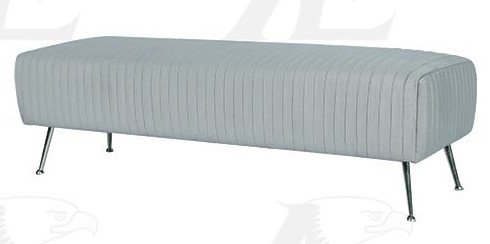 Cate Blue Fabric Accent Bench by American Eagle Furniture