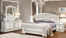 Aida 5-Pc White & Silver Wood King Bedroom Set (Oversized) by ESF