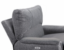 Dickinson Charcoal Fabric Power Recliner by Homelegance