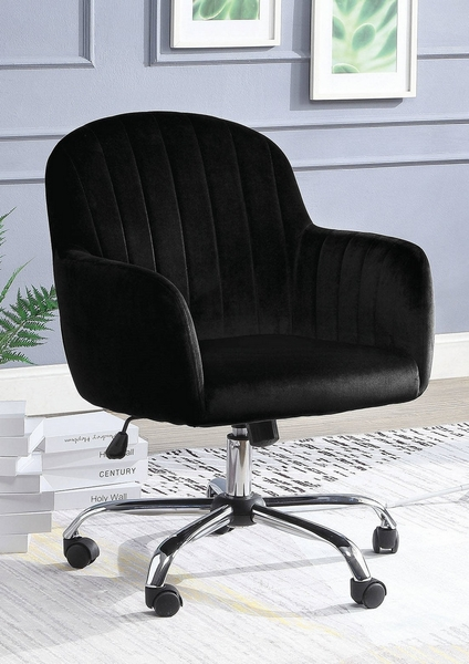 Valery Black Fabric/Metal Office Chair by Furniture of America