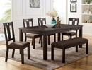 Brinley Walnut Wood Extendable Dining Table by Furniture of America